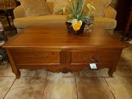 ethan allen coffee table drawers at the