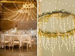 a luxurious chandelier is quite a y option not suitable for a budget wedding hanging delicate sparkling lights from a hula hoop can give the same