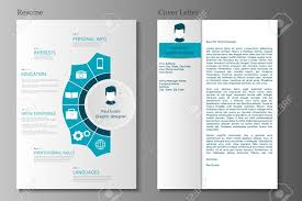 Modern Resume Infographics Resume And Cover Letter Collection Modern Cv Set With Infographics