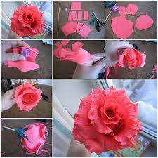 Flower Making With Crepe Paper Step By Step How To Make 10 Different Flower Craft Tutorials Step By Step K4