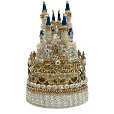 Crown Princess Castle Cake Topper Rhinestones Decoration For