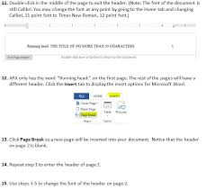 Microsoft Word Apa Header How Do You Set Up An Apa Style Header Using Microsoft Word
