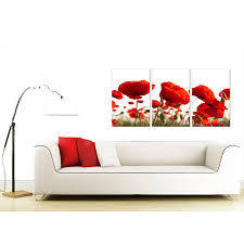 display gallery item 4 set of 3 floral canvas pictures 125cm x 60cm 3056 display gallery item 5  on poppy wall art uk with poppy canvas wall art set of 3 for your living room