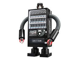 Robot Vending Machine New CocaCola Zero Vending Machine Robot Coke Black Figure JAPAN JAPAN