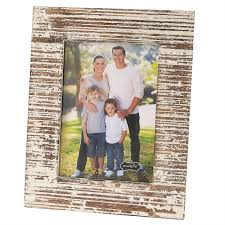 white distressed wood frames