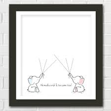 twin elephant baby shower guest book printable