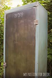 Old Metal Cabinets My Passion For Decor Old Rusty Smelly Metal Cabinet Turned