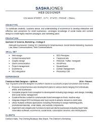 Social Media Resume Example Web Designer Resume Example Development Seo Social Media