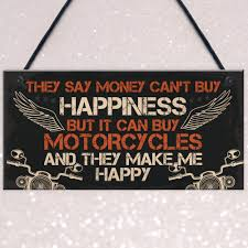 details about motorcycle sign hanging plaque bikers gift for dad grandad brother gifts for men