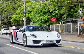 porsche 918 spyder white. porsche 918 spyder weissach white brazil 3 image