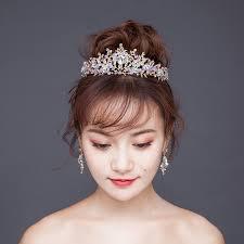 1065 41 De Réduction2017 Princesse Mariée Couronne Or Cheveux Bijoux Rose Cristal Mariage Coiffure Feuille Forme Coiffure Cheveux Accessoires