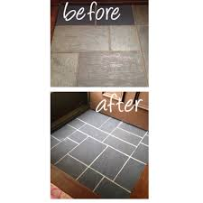 Slate Floor Tiles For Kitchen Painted Slate Floor In Entryway Using Annie Sloan Chalk Paint In