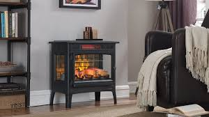 cozy up to this faux fireplace heater for 117