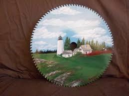 circular saw blade art. circular saw blade painting - silhouette arts by je art