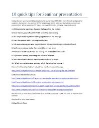 quick tips for seminar topics presentation for engineering students
