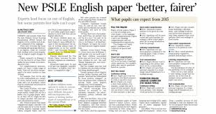 Model Answers for PSLE Booklet               Situational Writing and     Latest PSLE English Past Year Paper by Shing Lee