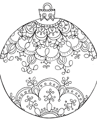 Small Picture Ornament Coloring Page Cut Out