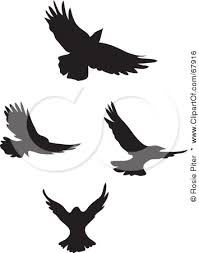 flying birds tattoo clipart. Brilliant Flying Black Fancy Flying Bird Silhouette Clip Art Tattoo Picture And Birds Clipart
