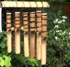 image of homemade bamboo wind chimes