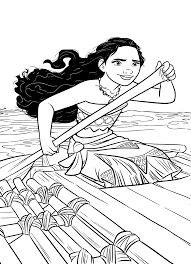 Moana Coloring Pages Free Printable Coloring