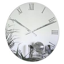 Small Picture Roco Verre Roman Mirror Wall Clock Contemporary Heaven UK