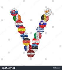 V Letter Design V Letter Design Created Euro Coin Royalty Free Stock Image