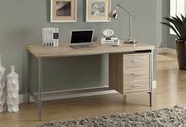 wooden home office. Image Of: Bente Wooden Home Office Desk In White With Shelving