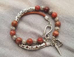 Red Jasper Charms Of Light Red River Jasper Gemstone Tibetan Silver Bead Natural