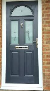 painted double front door. Grey Front Door Gray Colors And White . Painted Double L