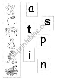 Phonics teaches a student to read by using the sounds of the. Initial Sounds S A T P I N Esl Worksheet By Rak02
