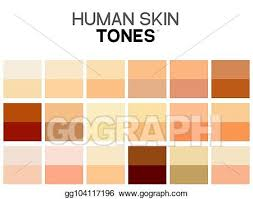 Skin Tone Color Chart Vector Illustration Skin Tone Color Chart Human Skin