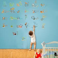 animal alphabet wall decal nursery