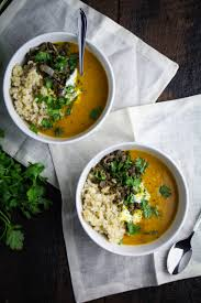 Decorating kitchen door meals images : A House // Sweet Potato and Coconut Milk Soup with Brown Rice and ...
