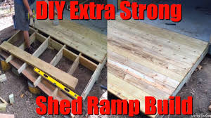 easy diy extra strong heavy duty shed ramp build low cost 8 s ramp on a hill slope