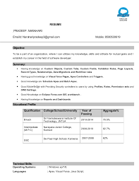 Certified Developer Resume Pradeep Resume Salesforce Certified