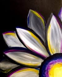 acrylic flower painting for beginners