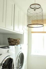 lighting for laundry room. Farmhouse Light With Chicken Wire By The Wood Grain Cottage Lighting For Laundry Room