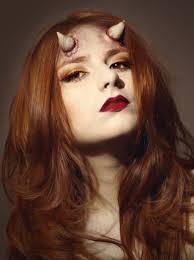 glamorous devil makeup