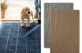 pretentious llbean waterhog woodgrain doormat from l bean made in the usa