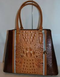 BRAHMIN JOAN EMBOSSED LEATHER TOTE TOASTED ALMOND GARRONE NEW WITH TAG