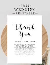 Thank You Black And White Printable Free Black And White Printable Wedding Thank You Note Card