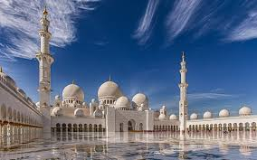 full hd sheikh zayed grand mosque abu dhabi desktop wallpaper