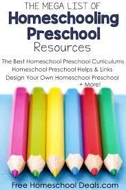 Design Your Own Homeschool Mega List Of Homeschooling Preschool Resources