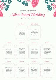 Bijou Seating Chart Pink And White Elegant Floral Watercolor Flower Shop