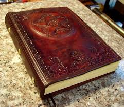 custom made hand tooled leather pentagram blank book book of shadows