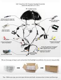 kawasaki ninja 250 300 led angel eye hid projector headlight kawasaki ninja 250 300 led angel eye hid projector headlight assembly 2013 2014 2015 2016