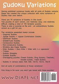 Killer Sudoku Combinations Chart Sudoku Variations Djape 9781490380773 Amazon Com Books
