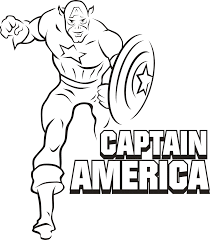 Captain America Coloring Pages Superhero Coloringpedia