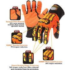 Ironclad Kong Original Oil Gas Industry Impact Hi Vis Gloves