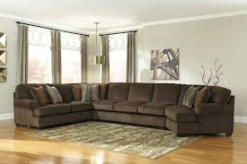 furniture attractive ashley furniture sectional sofas in brown leather with coffee table and area rug